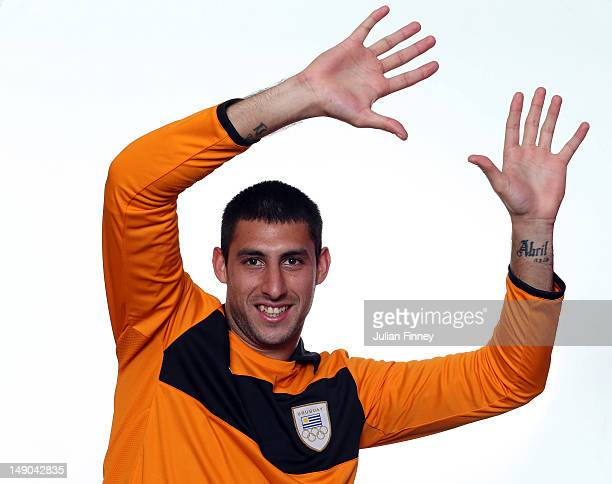 Martin Rodriguez of Uruguay poses during a portrait session on July 22 2012 in Manchester England