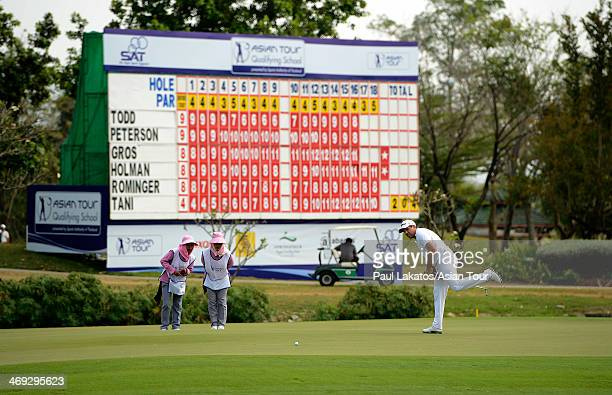 Martin Rominger of Switzerland in ation during round three of the Asian Tour Qualifying School presented by Sports Authority of Thailand at the...