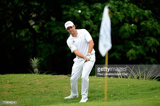 Martin Rominger of Switzerland plays a shot during round four of the Queen's Cup at Santiburi Samui Country Club on June 16 2013 in Bangkok Thailand