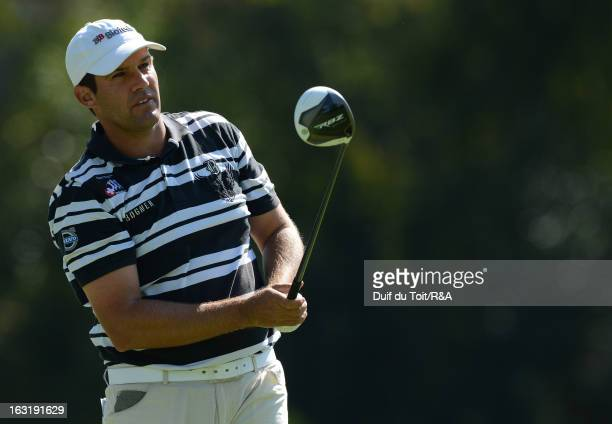 Martin Rominger tees off during round two of The Open Championship International Final Qualifying Africa at Royal Johannesburg and Kensington Golf...
