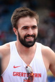Martin Rooney after winning the Men's 400m final during the Sainsbury's British Championships Birmingham Day Three at Birmingham Alexander Stadium on...