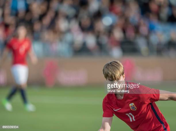 Martin Samuelsen of Norway during the Qualifying Round European Under 21 Championship 2019 between Norway v Kosovo at Ullevaal Stadion on June 12...