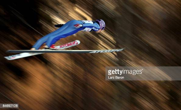 Martin Schmitt of Germany competes during day three of the FIS Ski Jumping World Cup at the Muehlenkopfschanze on February 8 2009 in Willingen Germany
