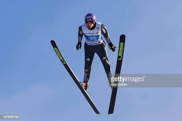 ARY 01 ARY 01 Martin Schmitt of Germany competes during the first round for the FIS Ski Jumping World Cup event at the 59th Four Hills ski jumping...