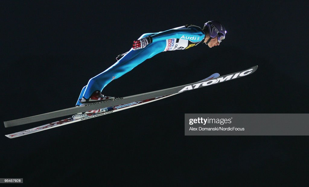 Martin Schmitt of Germany competes during the FIS Ski Jumping World Cup event at the 58th Four Hills Ski Jumping Tournament on December 28, 2009 in Oberstdorf, Germany.