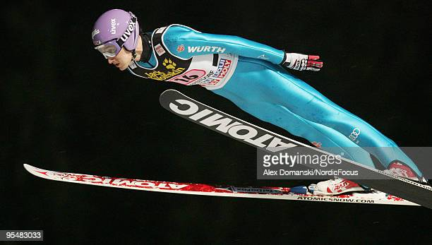 Martin Schmitt of Germany competes during the FIS Ski Jumping World Cup event at the 58th Four Hills Ski Jumping Tournament on December 29 2009 in...