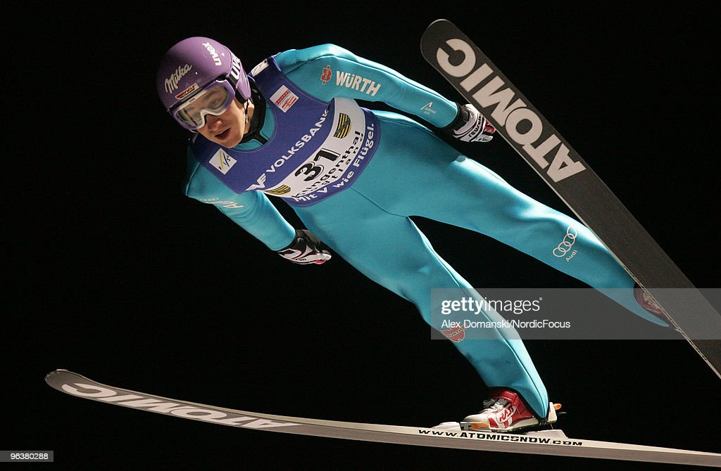 Martin Schmitt of Germany competes during the FIS Ski Jumping World Cup on February 3, 2010 in Klingenthal, Germany.