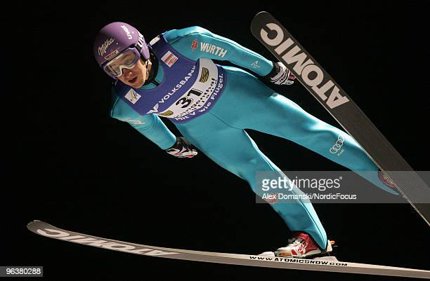 Martin Schmitt of Germany competes during the FIS Ski Jumping World Cup on February 3 2010 in Klingenthal Germany