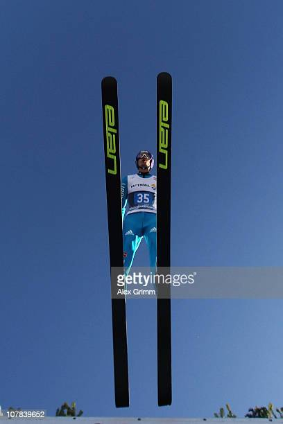 ARY 01 Martin Schmitt of Germany competes during the trial round for the FIS Ski Jumping World Cup event at the 59th Four Hills ski jumping...