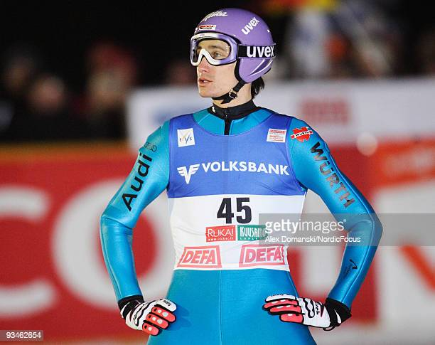Martin Schmitt of Germany during the individual HS 142 event of the FIS Ski Jumping World Cup on November 28 2009 in Kuusamo Finland