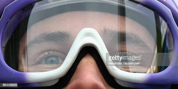 Martin Schmitt of Germany looks on during training round for the FIS Ski Jumping World Cup event at the 58th Four Hills ski jumping tournament at...