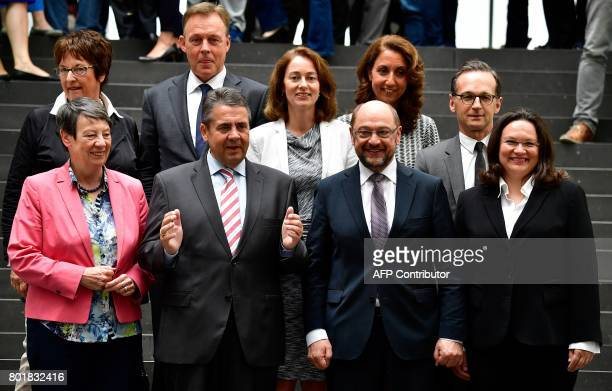 Martin Schulz leader of Germany's social democratic SPD party and candidate for chancellor German Vice Chancellor and Foreign Minister Sigmar Gabriel...
