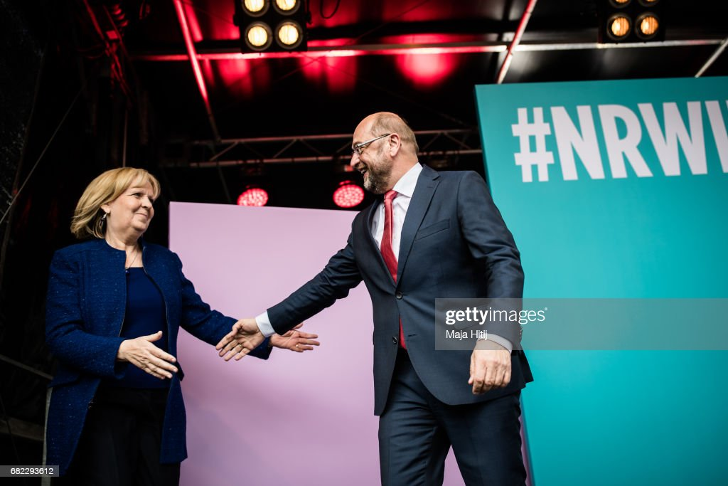 Martin Schulz Campaigns In North Rhine-Westphalia State Elections