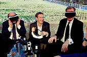Martin Schulz Mark Zuckerberg and Mathias Doepfner attend the presentation of the first Axel Springer Award on February 25 2016 in Berlin Germany
