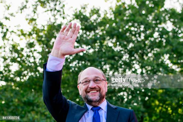 Martin Schulz SPD Party Leader and Top Candidate for 2017 Federal Election campaings on August 31 2017 in Hamburg Germany
