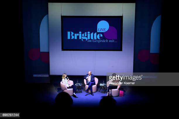 Martin Schulz speaks on stage during the Brigitte Live talk at Maxim Gorki Theater on June 12 2017 in Berlin Germany