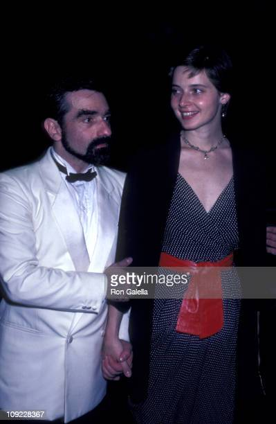 Martin Scorcese and actress Isabella Rossellini attend 'New York New York' Dinner Dance Honoring Halston on August 10 1981 at Olympic Towers in New...