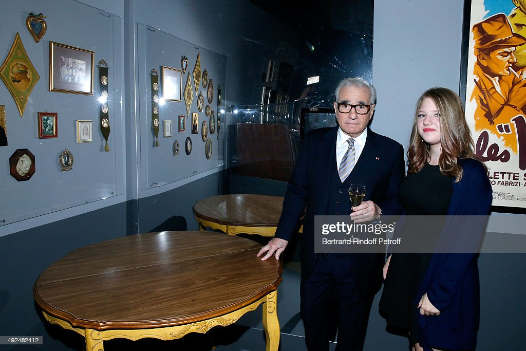 <a gi-track='captionPersonalityLinkClicked' href=/galleries/search?phrase=Martin+Scorsese&family=editorial&specificpeople=201976 ng-click='$event.stopPropagation()'>Martin Scorsese</a> and his daughter Francesca pose near the Scorsese Family Table during the Tribute to Director <a gi-track='captionPersonalityLinkClicked' href=/galleries/search?phrase=Martin+Scorsese&family=editorial&specificpeople=201976 ng-click='$event.stopPropagation()'>Martin Scorsese</a> at Cinematheque Francaise on October 13, 2015 in Paris, France.