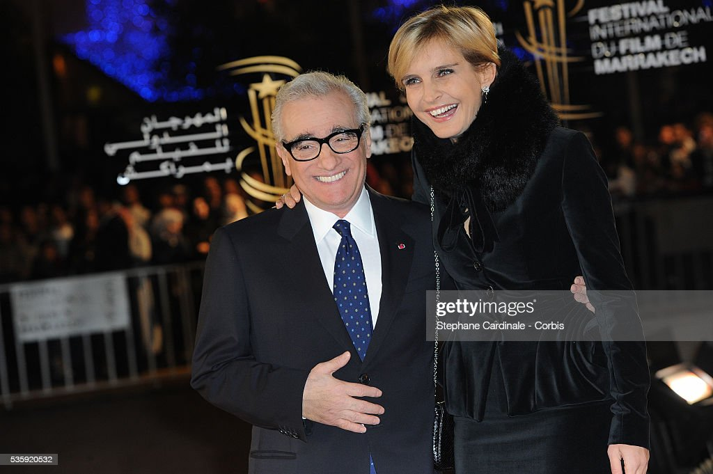 Martin Scorsese and Melita Toscan du Plantier attend the Tribute to French Cinema during the Marrakech 10th Film Festival.