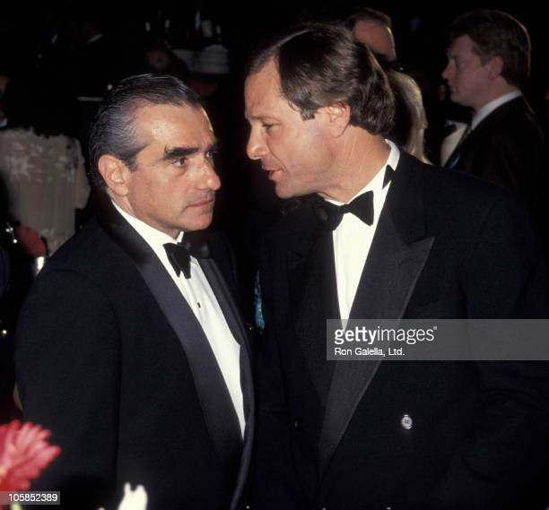 Martin Scorsese and Michael Ovitz during 6th Annual Moving Picture Ball Honoring Martin Scorsese at Century Plaza Hotel in Century City California...