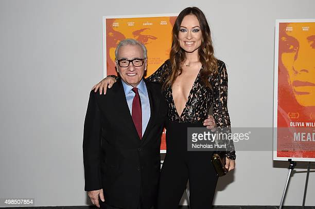 Martin Scorsese and Olivia Wilde attend the New York screening of 'Meadowland' directed by Reed Morano with Olivia Wilde hosted by Martin Scorsese on...