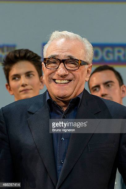 Martin Scorsese attends the closing ceremony 7th Lumiere Film Festival on October 18 2015 in Lyon France