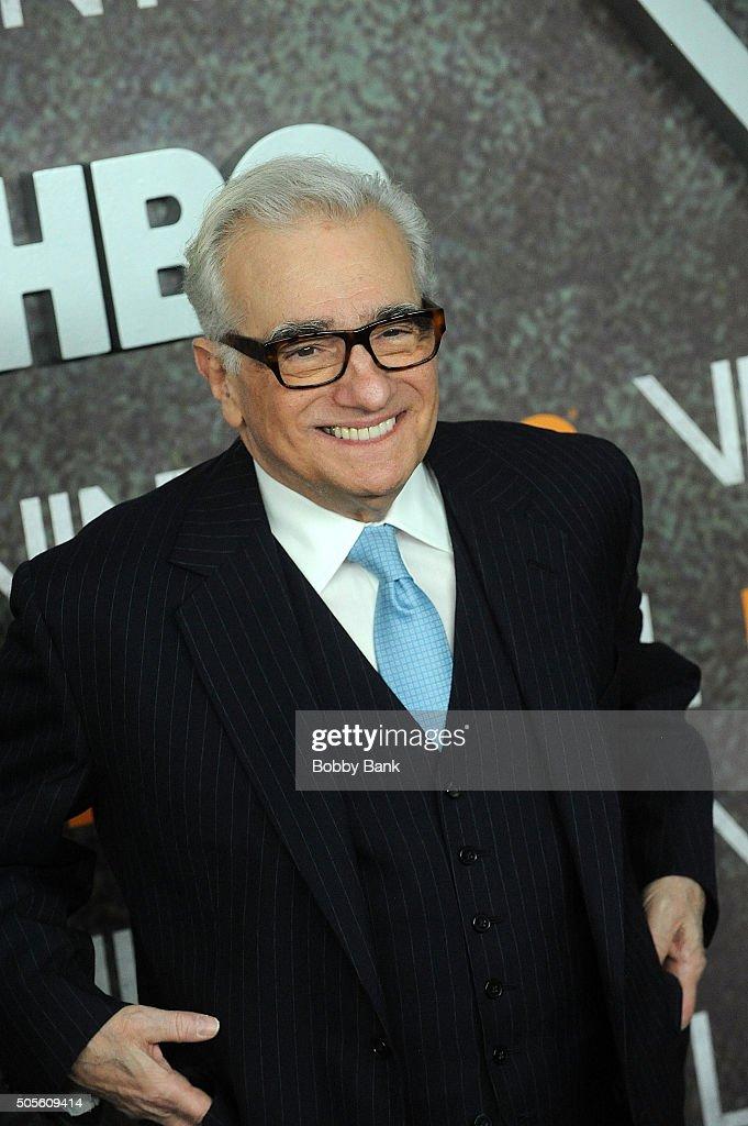 Martin Scorsese attends the 'Vinyl' New York Premiere at Ziegfeld Theatre on January 15, 2016 in New York City.