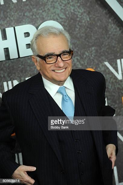 Martin Scorsese attends the 'Vinyl' New York Premiere at Ziegfeld Theatre on January 15 2016 in New York City