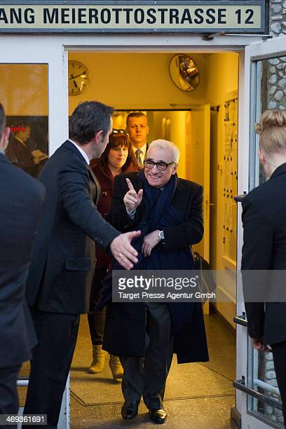 Martin Scorsese leaves the 'Untitled New York Review of Books Documentary' premiere during 64th Berlinale International Film Festival at Haus der...