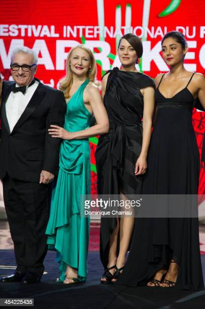 Martin Scorsese Patricia Clarkson Marion Cotillard Golshifteh Farahani attend the Award Ceremony of the 13th Marrakech International Film Festival on...
