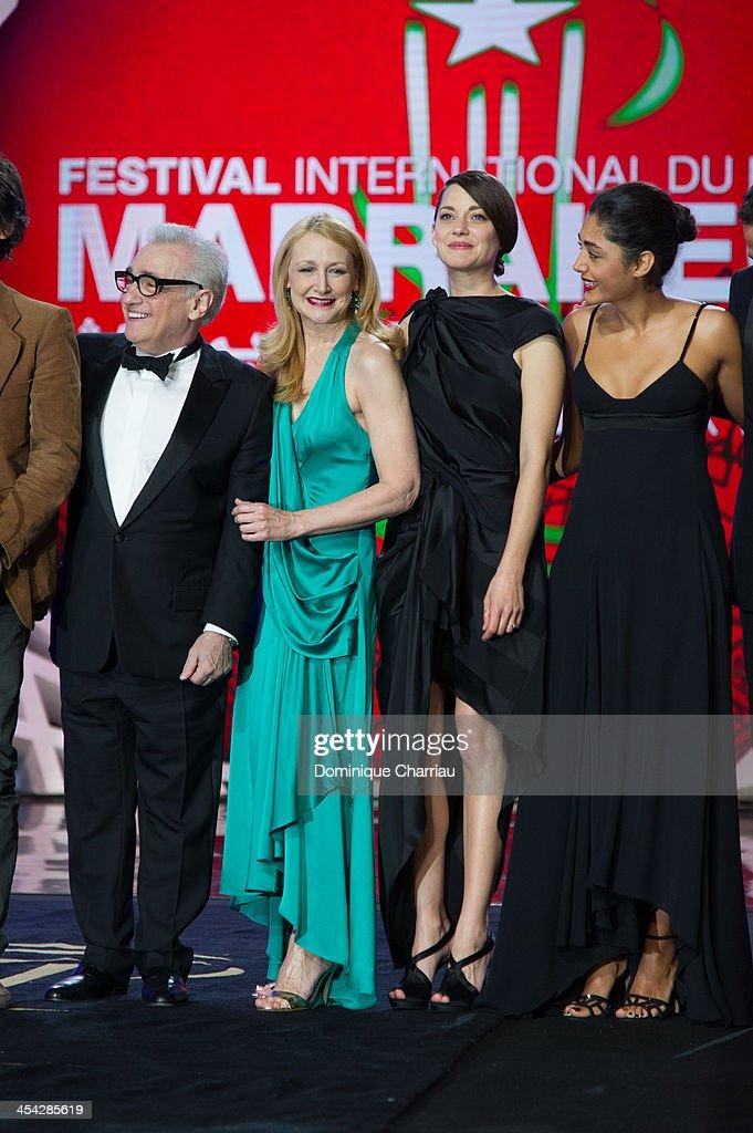 Martin Scorsese, Patricia Clarkson, Marion Cotillard , Golshifteh Farahani attend the Award Ceremony of the 13th Marrakech International Film Festival on December 7, 2013 in Marrakech, Morocco.