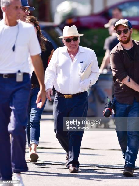 Martin Scorsese seen on location for 'The Irishman' on September 25 2017 in Huntington Station New York