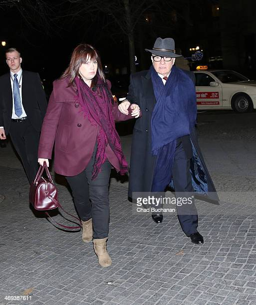 Martin Scorsese sighted with guest at Kaisersaal restaurant on February 14 2014 in Berlin Germany