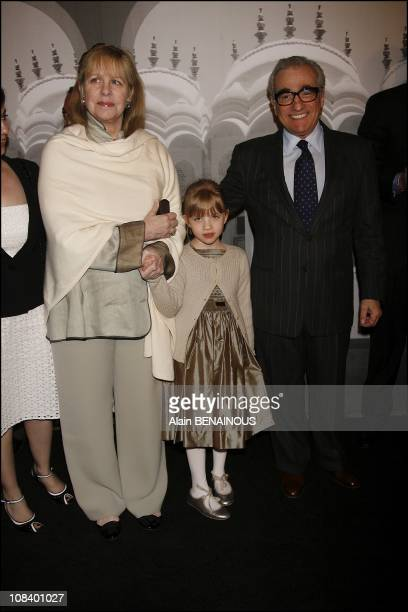 Martin Scorsese with wife Helen Morris and daughter Francesca Scorsese in Los Angeles on February 24 2007