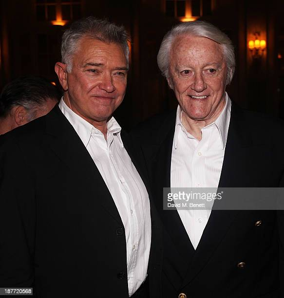Martin Shaw and Robert Vaughn attend an after party following the press night performance of 'Twelve Angry Men' on November 11 2013 in London England