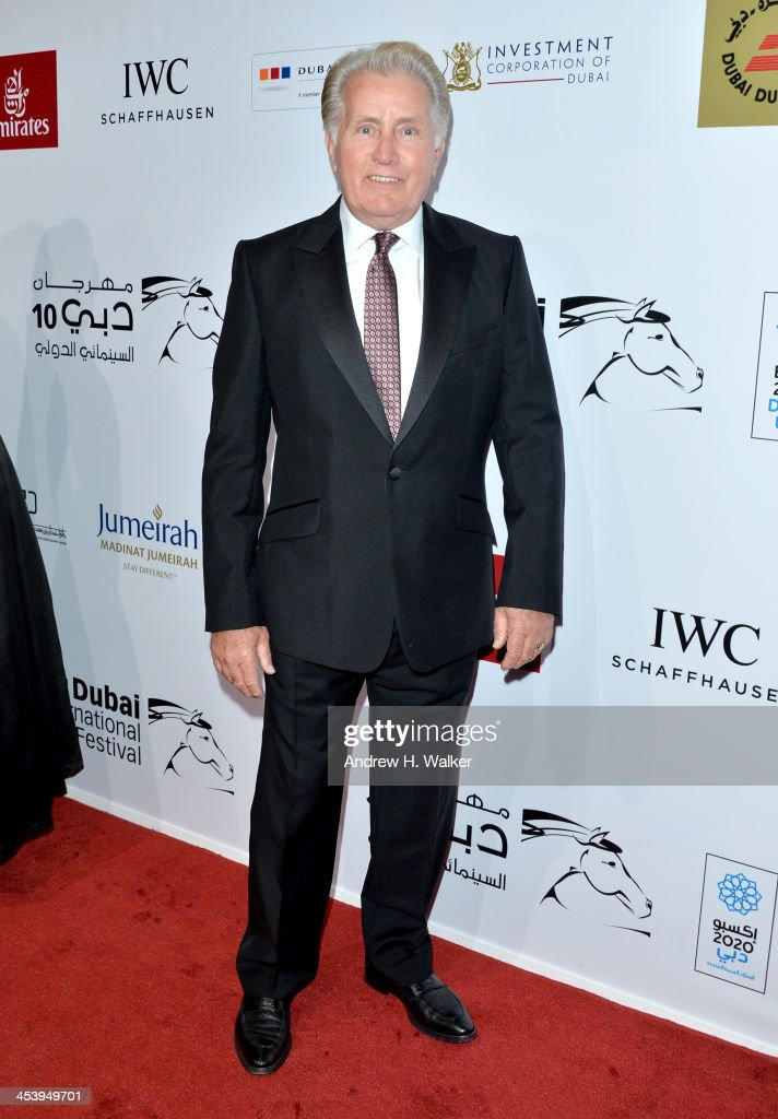 <a gi-track='captionPersonalityLinkClicked' href=/galleries/search?phrase=Martin+Sheen&family=editorial&specificpeople=203224 ng-click='$event.stopPropagation()'>Martin Sheen</a> attends the Opening Night Gala of the 10th Annual Dubai International Film Festival held at the Madinat Jumeriah Complex on December 6, 2013 in Dubai, United Arab Emirates.