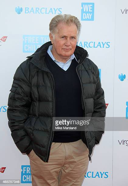 Martin Sheen attends We Day UK at Wembley Arena on March 5 2015 in London England