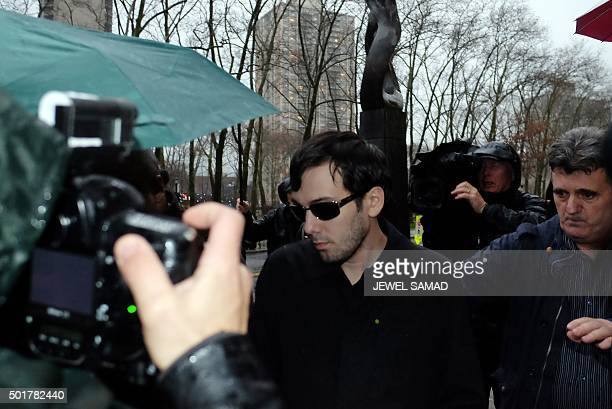 Martin Shkreli a former hedge fund manager and Chief Executive Officer of Retrophin leaves the federal court after getting bail in New York on...