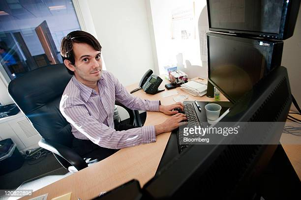 Martin Shkreli chief investment officer of MSMB Capital Management sits for a photograph in his office in New York US on Wednesday Aug 10 2011 MSMB...