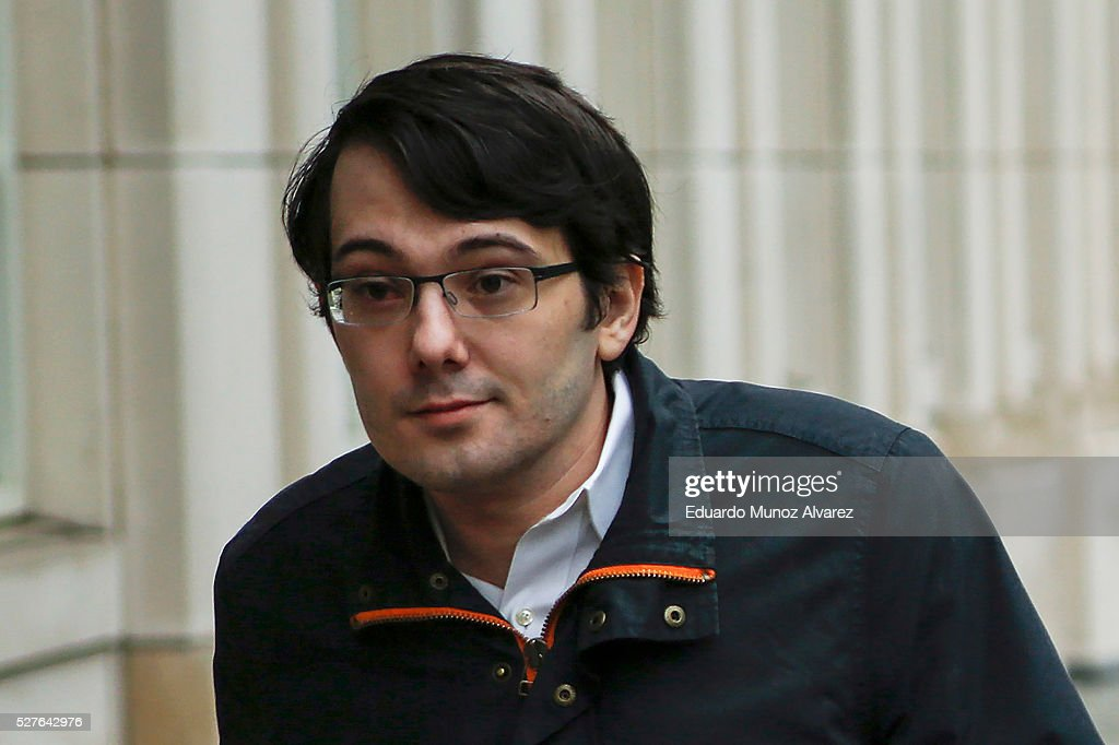 <a gi-track='captionPersonalityLinkClicked' href=/galleries/search?phrase=Martin+Shkreli&family=editorial&specificpeople=8043643 ng-click='$event.stopPropagation()'>Martin Shkreli</a>, former Chief Executive Officer of Turing Pharmaceuticals LLC, arrives to federal court on May 3, 2016 in the Brooklyn borough of New York City. Shkreli appears in U.S. District Court to face multiple fraud charges, including illegally siphoning money from one of his companies to pay off bad market bets made by another of his companies.