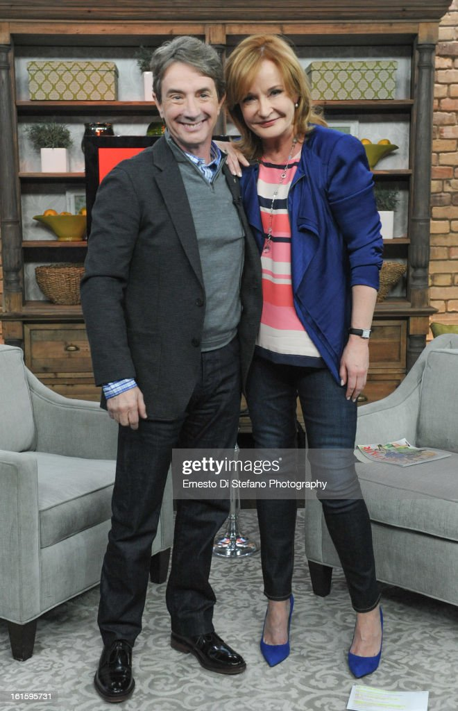 Martin Short and Host Marilyn Denis appear on the Marilyn Denis Show on February 12, 2013 in Toronto, Canada.