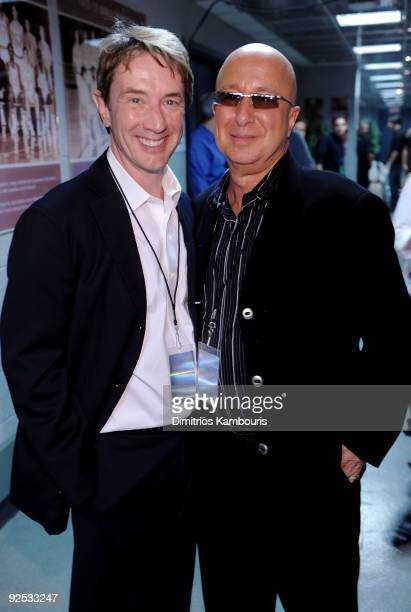 *EXCLUSIVE* Martin Short and Paul Shaffer attend the 25th Anniversary Rock Roll Hall of Fame Concert at Madison Square Garden on October 29 2009 in...