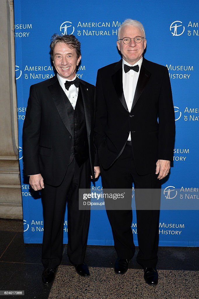 Martin Short (L) and Steve Martin attend the 2016 American Museum of Natural History Museum Gala at the American Museum of Natural History on November 17, 2016 in New York City.