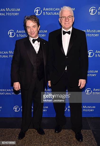 Martin Short and Steve Martin attend the 2016 American Museum of Natural History Museum Gala at the American Museum of Natural History on November 17...