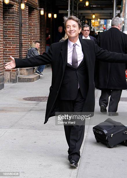 Martin Short arrives for the 'Late Show with David Letterman' at Ed Sullivan Theater on April 4 2013 in New York City