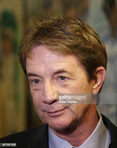 Martin Short attends the media day for the new cast of the Broadway hit 'It's Only A Play' at Sardi's Restaurant on January 13 2015 in New York City