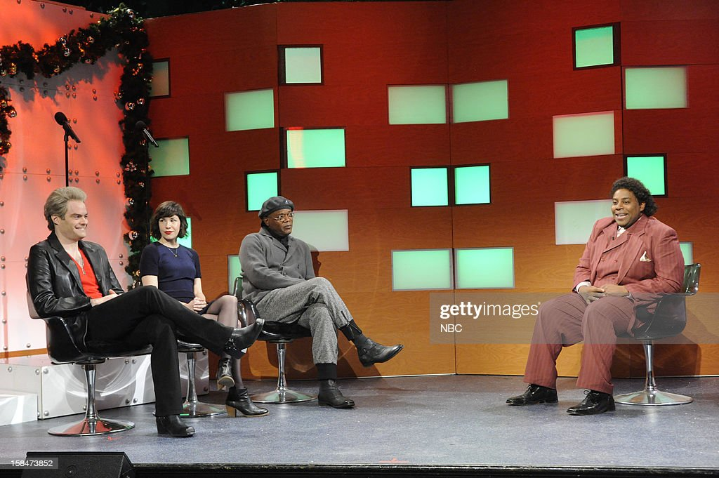 LIVE -- 'Martin Short' Episode 1630 -- Pictured: (l-r) Bill Hader, Carrie Brownstein, Samuel L. Jackson, <a gi-track='captionPersonalityLinkClicked' href=/galleries/search?phrase=Kenan+Thompson&family=editorial&specificpeople=215158 ng-click='$event.stopPropagation()'>Kenan Thompson</a> --
