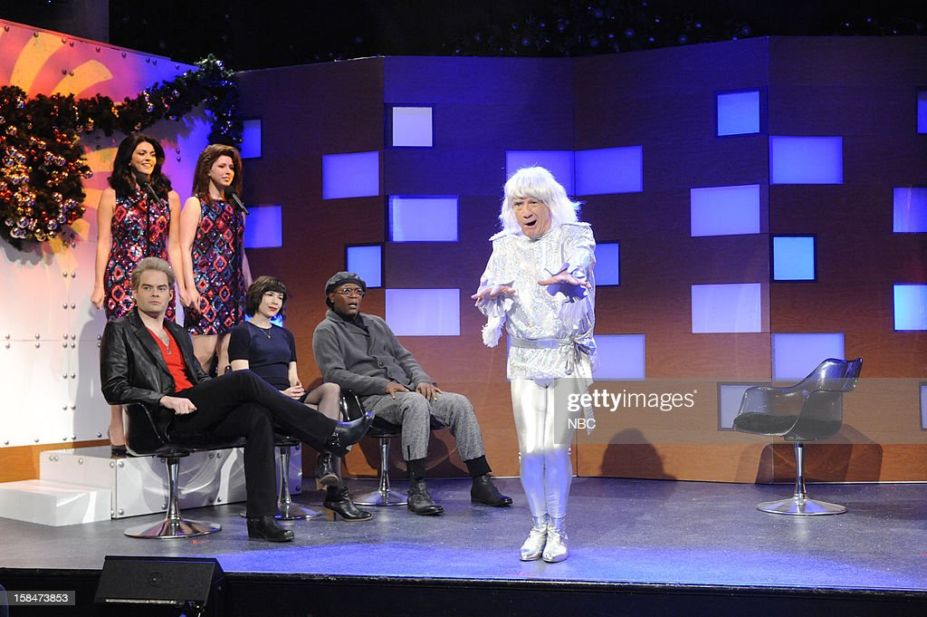 LIVE -- 'Martin Short' Episode 1630 -- Pictured: (l-r) Bill Hader, Cecily Strong, Vanessa Bayer, Carrie Brownstein, Samuel L. Jackson, Martin Short --