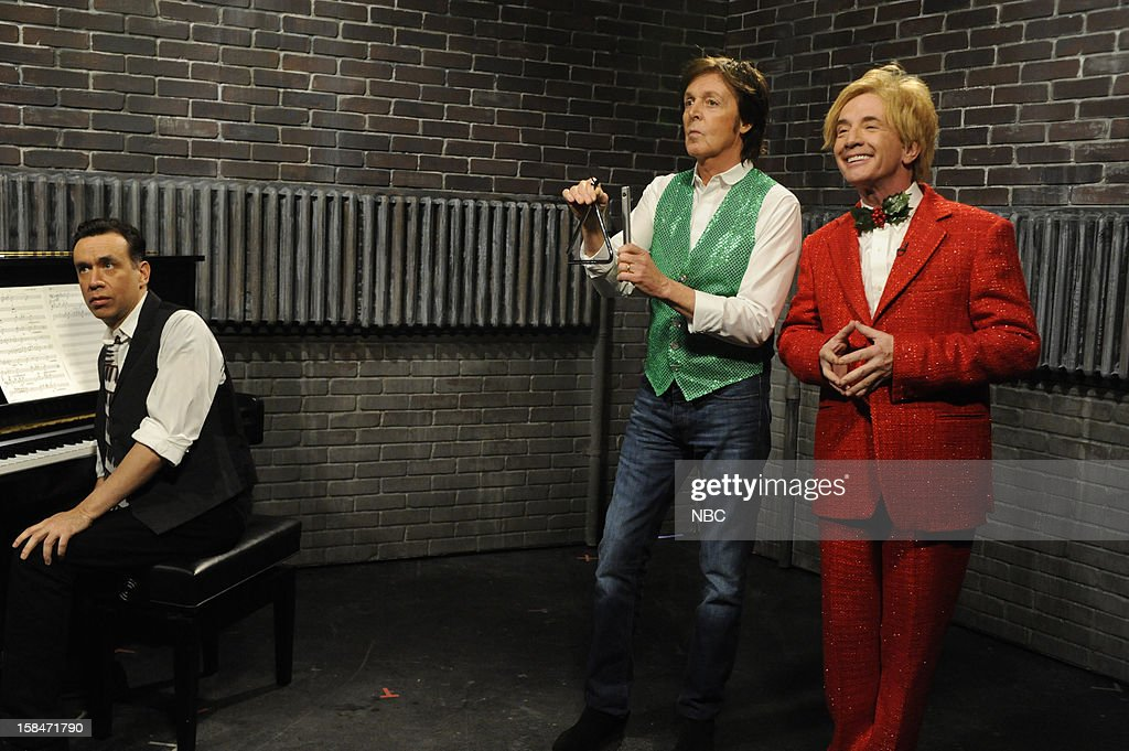LIVE -- 'Martin Short' Episode 1630 -- Pictured: (l-r) Fred Armisen, Paul McCartney, Martin Short --