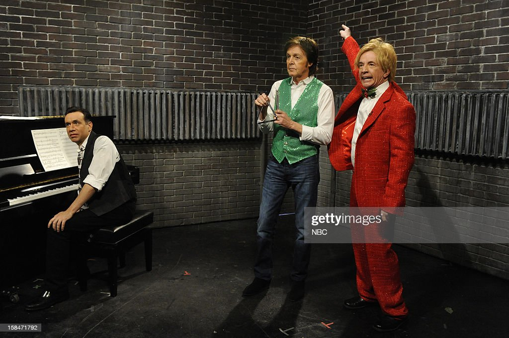 LIVE -- 'Martin Short' Episode 1630 -- Pictured: (l-r) Fred Armisen, Paul McCartney, Martin Short --